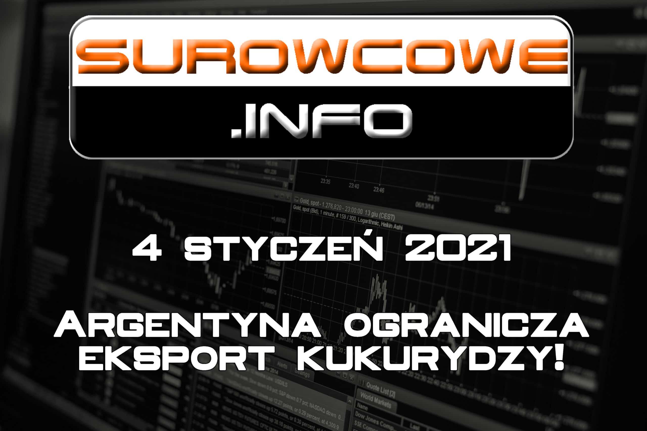 surowcowe info 4 styczeń 2021