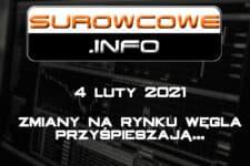 Surowcowe.info 04/02/2021 – zmiany na rynku węgla przyśpieszają...