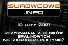 Surowcowe.info 18 luty 2021 – rezygnacja z silników spalinowych nie zaszkodzi platynie?