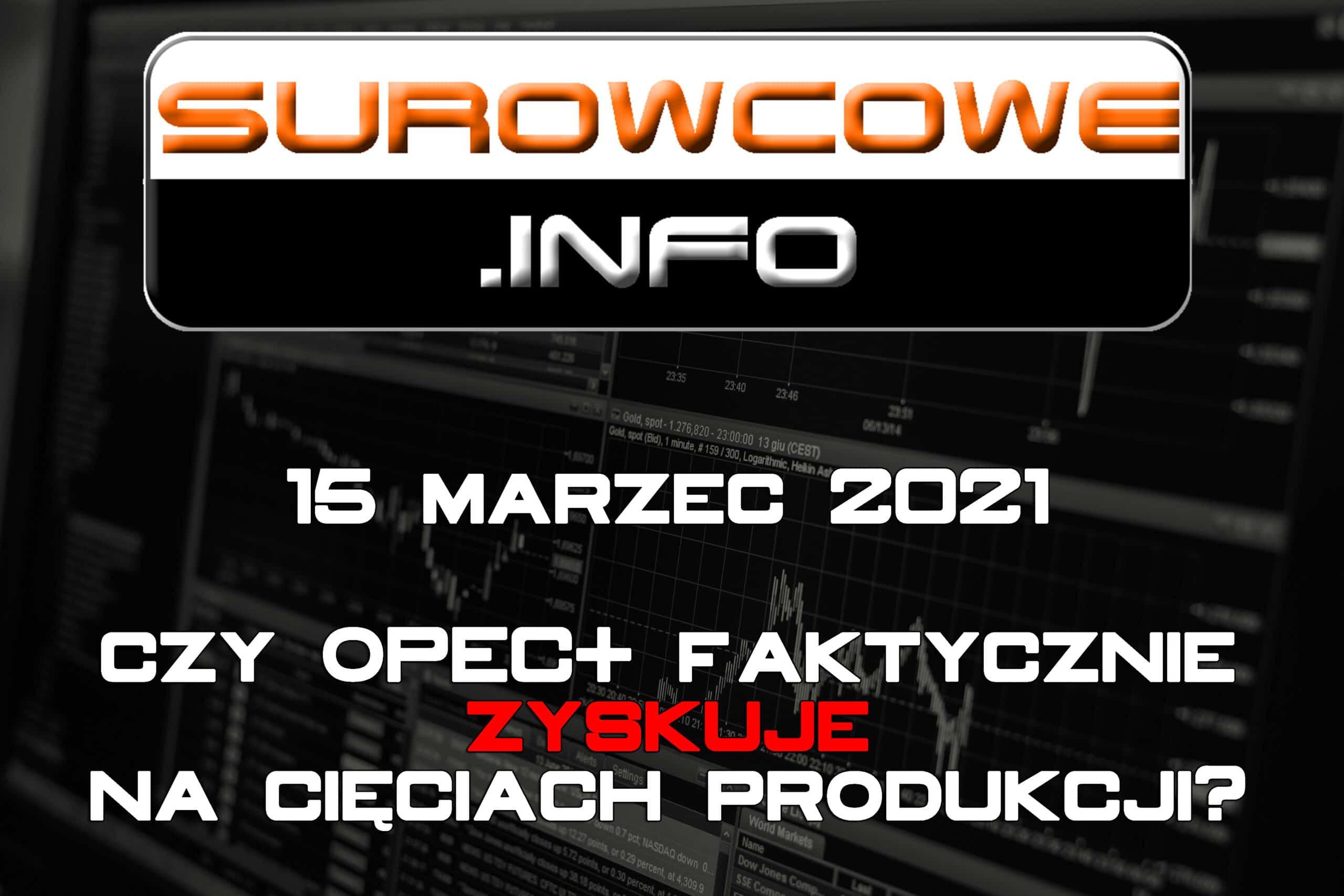 Surowcowe.info 15 marzec 2021