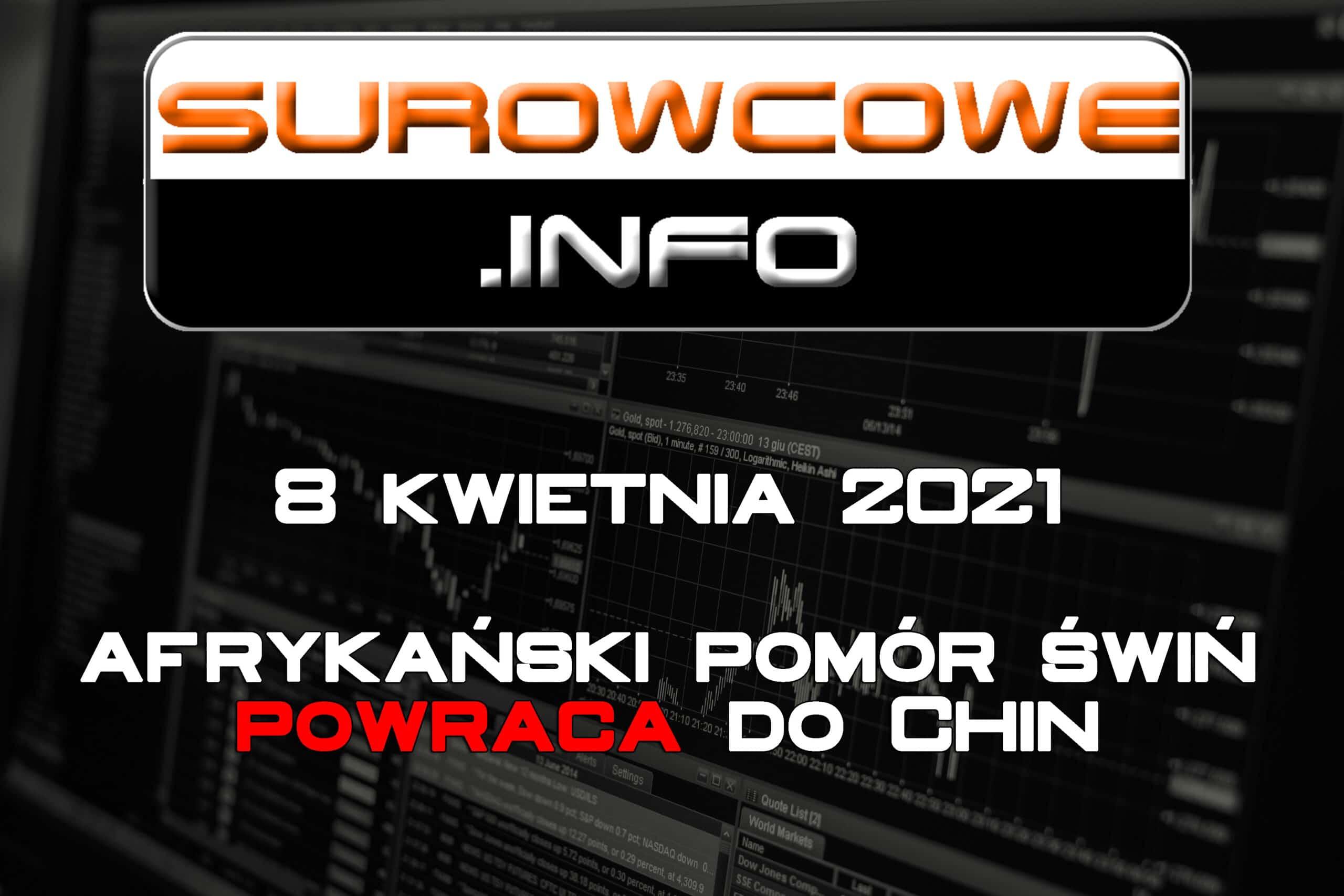 Surowcowe.info 8 kwietnia 2021