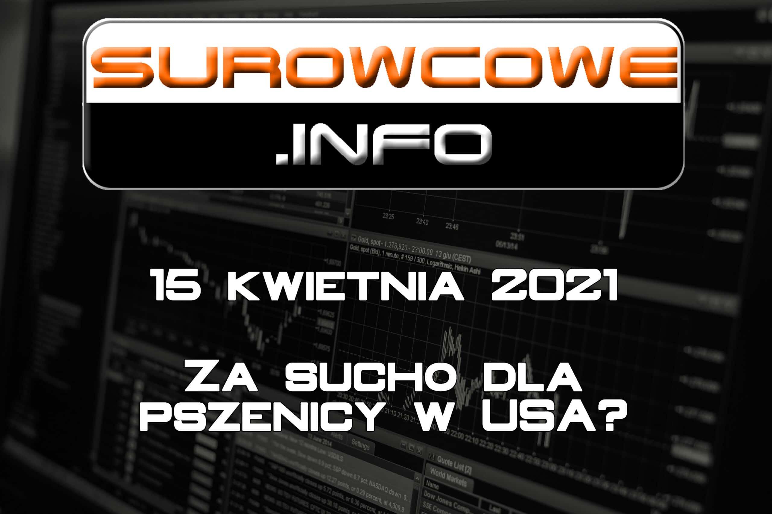 Surowcowe.info 15 kwietnia 2021