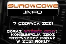Surowcowe.info 7 czerwca 2021