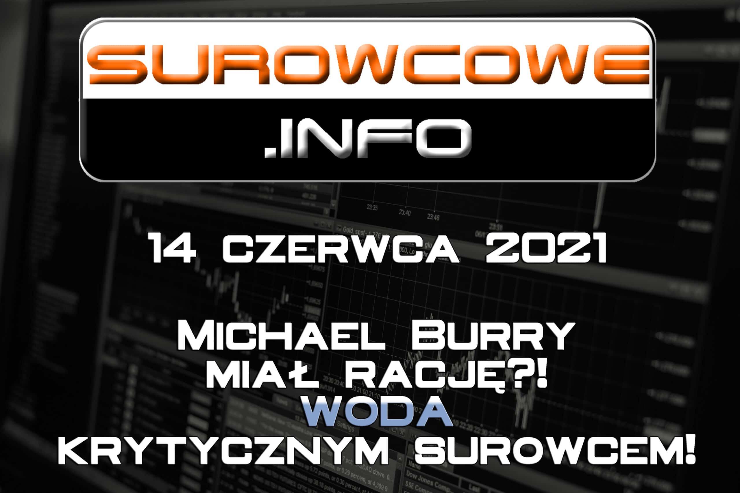 Surowcowe.info 14 czerwca 2021