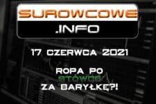 Surowcowe.info 17 czerwca 2021